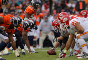 KC (9-0) at Denver (8-1) for division lead 7 top spot in AFC