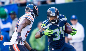 Seahawks undrafted rookie RB Thomas Rawls has rushed for nearly 400 yards & 3 TDs the last 3 games & Seattle now leads the league in rushing at 146 YPG